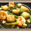 『海老とマッシュルームのアヒージョ』オリーブオイル煮で体の中からポッカポカ