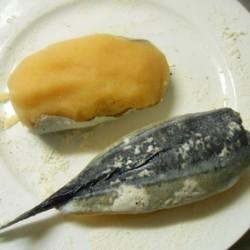 太っちょさんまの明太コロッケ・即席トマトソース (4)