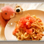 『手作り生パスタのトマトクリームソース』モチモチ麺の簡単レシピ