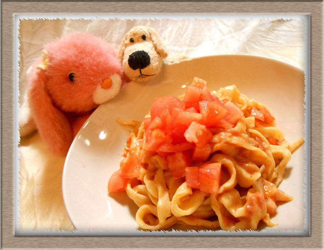 豆乳トマトソースパスタ