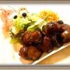『サイコロステーキ』ナスでかさ増し!合いびき肉で格安に!