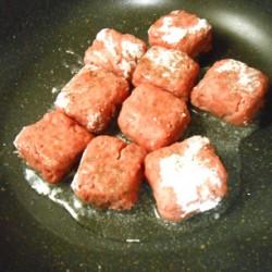 サイコロステーキ (焼き)