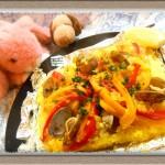 『魚介のうま味たっぷりパエリア』アルミホイルに入れるだけ簡単レシピ!