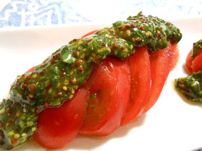 冷やしトマトバジルソース