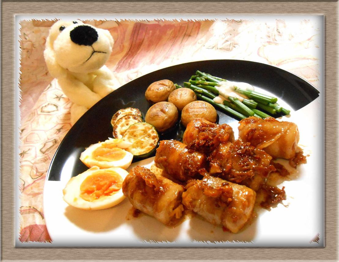高野豆腐と豚ばら肉の角煮