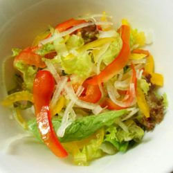 ローストビーフ丼 (野菜)