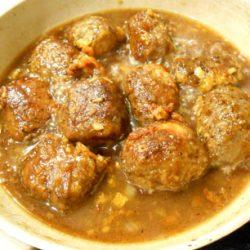 高野豆腐サイコロステーキ (煮詰める)