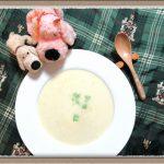 生とうもろこし『コーンポタージュスープ』すりおろして濃厚な甘み旬の食材