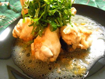 鶏肉と梅の酒煮 (盛り付け)
