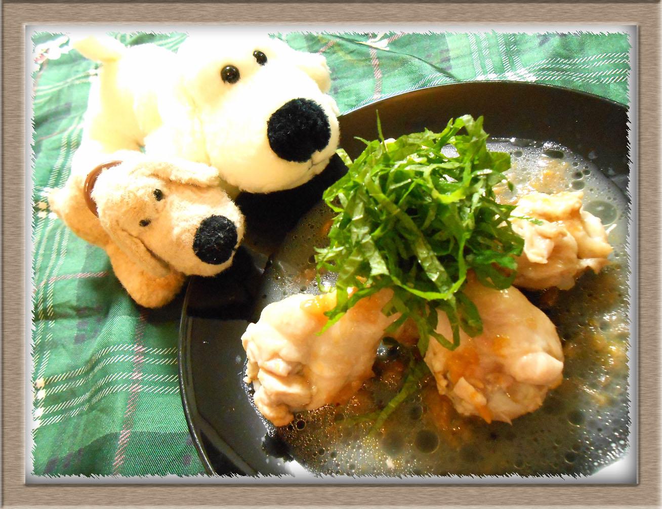 鶏肉と梅の酒煮
