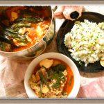 スタミナ料理『豚とアサリのWスープチゲ(スンドゥブ)&ガーリックチャーハン』絶妙な味バランス!?