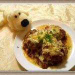 白ワインで煮込んだ『ふろふきチーズ大根』味噌とデミグラスソースで冬に暖まる~♪