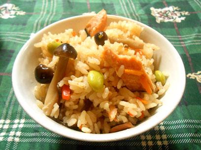 秋鮭炊き込みご飯