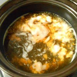 カニ缶鶏がらスープ