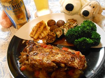 鶏もも肉のハーブソテーバルサミコ酢