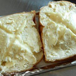 チーズフォンデュトースト焼き