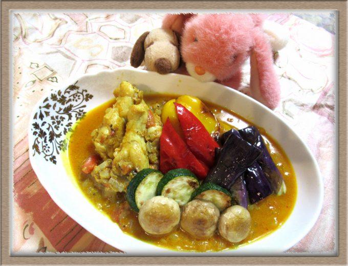 『たっぷり夏野菜のスパイスチキンカレー』GABANスパイス&シーズニングで手軽に本場の味!