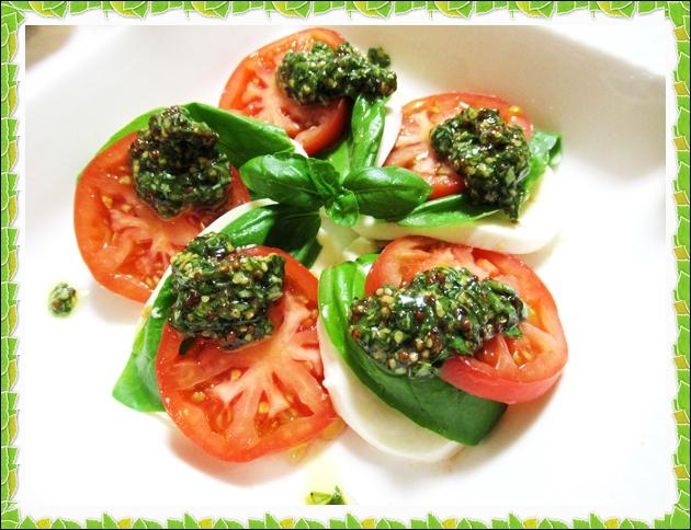 カプレーゼ マスタードバジルソース 冷やしトマト レシピ カプレーゼ