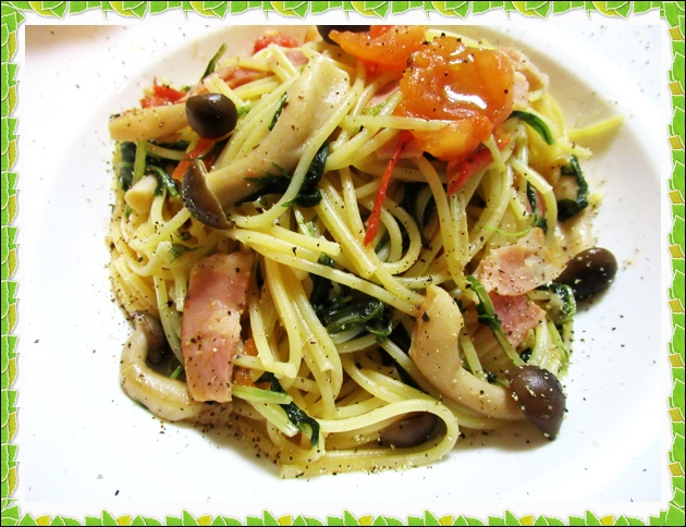 トマトと魚介のオイルパスタ レシピ 作り方 レシピ