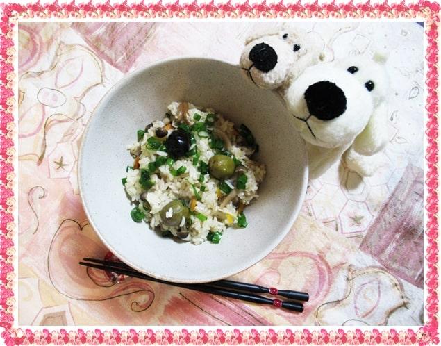 オリーブオイル オリーブ塩漬け 炊き込みご飯 ジョブチューン しめじ えのき にんじん 血糖値スパイク レシピ 作り方