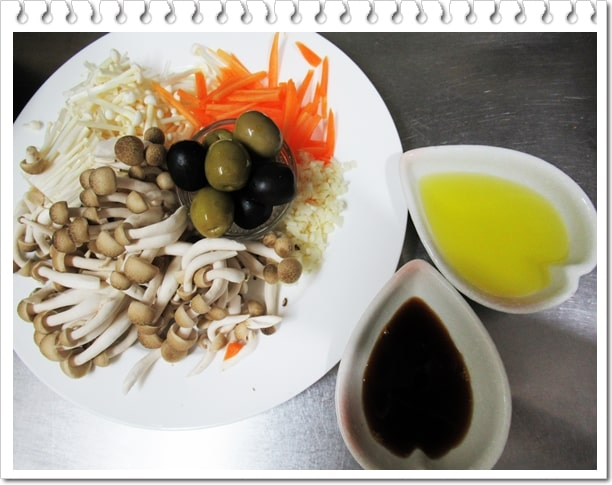 オリーブオイル オリーブ塩漬け オリーブオイル炊き込みご飯 レシピ 作り方 ジョブチューン しめじ えのき にんじん 血糖値スパイク