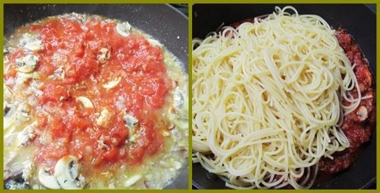 サバ缶 トマトソースパスタ 白ワイン アルパカ