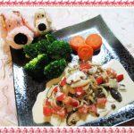 【つゆボナーラがCMで話題】鮭のムニエルきのこクリームソース作ってみた!簡単アレンジレシピ