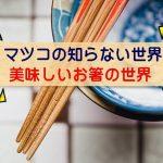 【マツコの知らない世界 お箸で美味しく】らーめん箸・納豆箸・機能的なウキハシ・塗り箸の魅力
