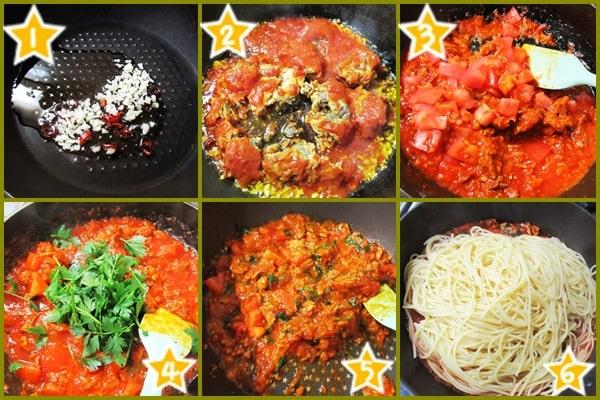 サバフィレ サバ缶 トマトパスタ 作り方 レシピ