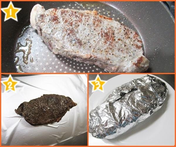 サーロインステーキ ローストビーフ 余熱調理
