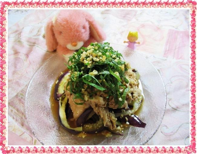 豚バラ肉 蒸しナス 中華風 香味 サラダ
