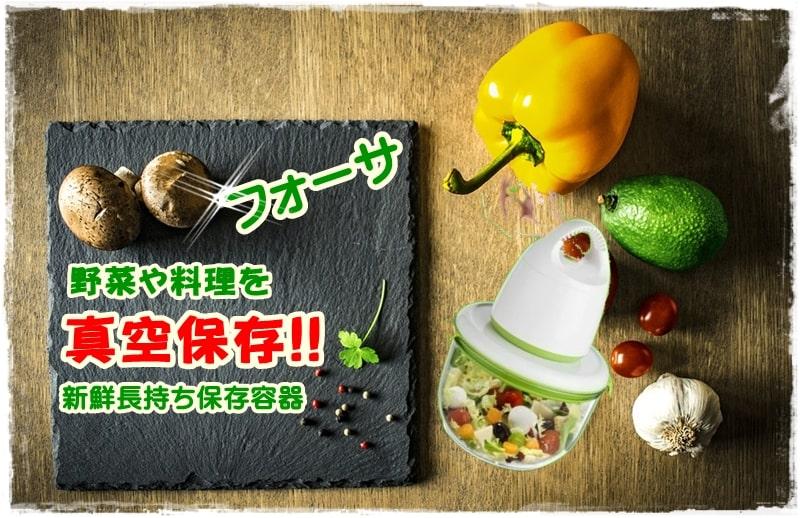 【野菜や料理をタッパーで真空保存】フォーサで新鮮長持ち!おすすめの保存容器はコレ!!