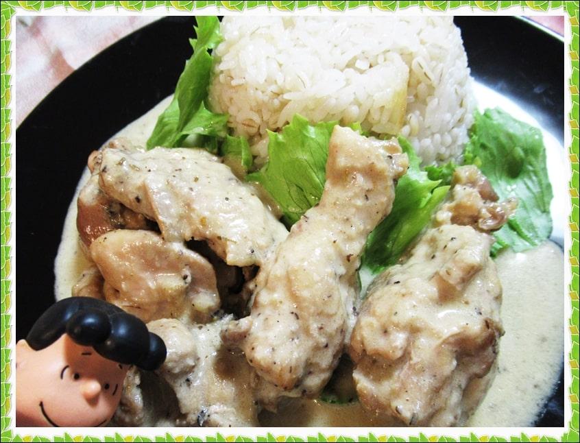 伝説の家政婦 シマ,沸騰ワード10,鶏肉,クリーム煮,手羽元,オリーブスパイス,材料,作り方,レシピ,