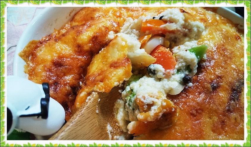 明太マヨネーズ 豆腐グラタン レシピ ダイエット 温野菜